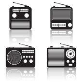 Radio receiver  icons. — Stock Vector