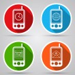 Mobile phones icons. — Stock Vector #51298151