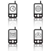 Mobile phones icons — Stock Vector