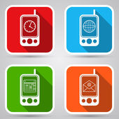 Mobile phones icons. — Stock Vector
