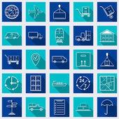 Logistics square web icons — Stock Vector