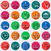 Logistics square web icons — Stock Vector