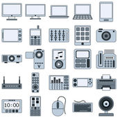 Modern electronic devices icons — Stock Vector