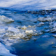 Stock Photo: Frozen Dnieper River - Detail