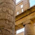 Columns' detail in the Karnak temple in Luxor, Egypt — Stock Photo #20802189