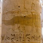 Columns' detail in the Karnak temple in Luxor, Egypt — Stock Photo #20802609