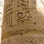 Columns' detail in the Karnak temple in Luxor, Egypt — Stock Photo #20803509