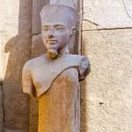 Karnak temple in Luxor, Egypt. Statue of Amun Ra — Stock Photo