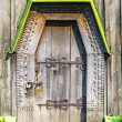 Detail of the door of a typical ukrainian antique orthodox churc — Foto Stock