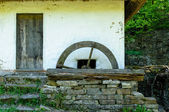 Detail of a typical ukrainian antique water mill — 图库照片