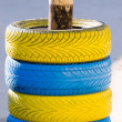 Colored tires — Foto Stock