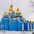 Saint Michael of Kiev in Winter - Stock Photo