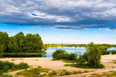 Late Afternoon on the Dnieper River in Kiev — Stock Photo