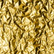 Crumpled Gold Foil — Stock Photo