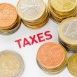 Stock Photo: Euro, Cents and Taxes