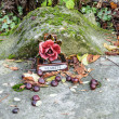 Detail of Tomb in Pere Lachaise Cemetery — Stock Photo