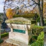 Tomb of La Fontaine in Pere Lachaise Cemetery — Stock Photo #33874859