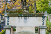 Tomb of Moliere in Pere Lachaise Cemetery — Stock Photo
