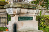Tomb of La Fontaine in Pere Lachaise Cemetery — Stock Photo