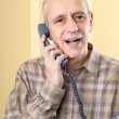 Amicable Man on Phone — Stock Photo