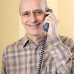 Smiling Man on Phone — Stock Photo
