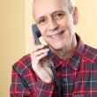 Beaming Man on Phone — Stock Photo