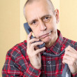 Annoyed Man on Phone — Stock Photo