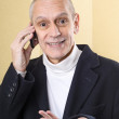 Smiling and Agreeable Man on Phone — Stock Photo