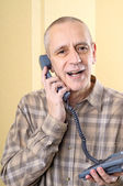 Amicable Man on Phone — Foto Stock