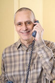 Smiling Man on Phone — Stock Photo