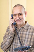 Happy Man on Phone — Stock Photo