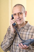 Friendly Man on Phone — Stock Photo