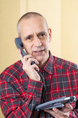 Amicable Man on Phone — Stockfoto