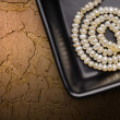 Natural Pearls Necklace — Stock Photo
