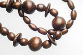 Wooden Beads Necklace — Stock Photo