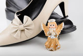 Saint Valentine Angel with two Shoes — Stock Photo