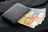 Euros and Dollars — Stock Photo
