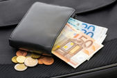 Euros in a Wallet — Stock Photo