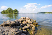 The Dnieper River in Kiev — Stock Photo