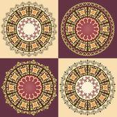 Ottoman serial patterns thirteen version — Stock Vector