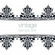 Stock Vector: Black ornate vintage frames