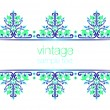 Stock Vector: Blue ornate vintage frames