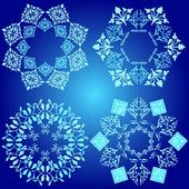 Mavi tasarım öğesi — Stok Vektör
