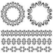 Oriental border and ornament thirteen — Stock Vector