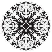 Black and white ottoman serial patterns twenty-four — Stock Vector