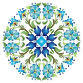 Blå ottomanska seriell mönster 24 — Stockvektor