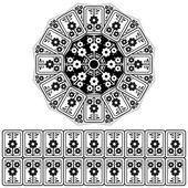 Design ottomano orientali — Vettoriale Stock