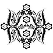 Black oriental ottoman design fifteen — Stock Vector