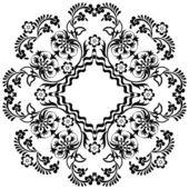Design preto oriental Otomano doze — Vetor de Stock