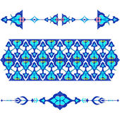 Blue oriental ottoman design twenty-five — Vector de stock